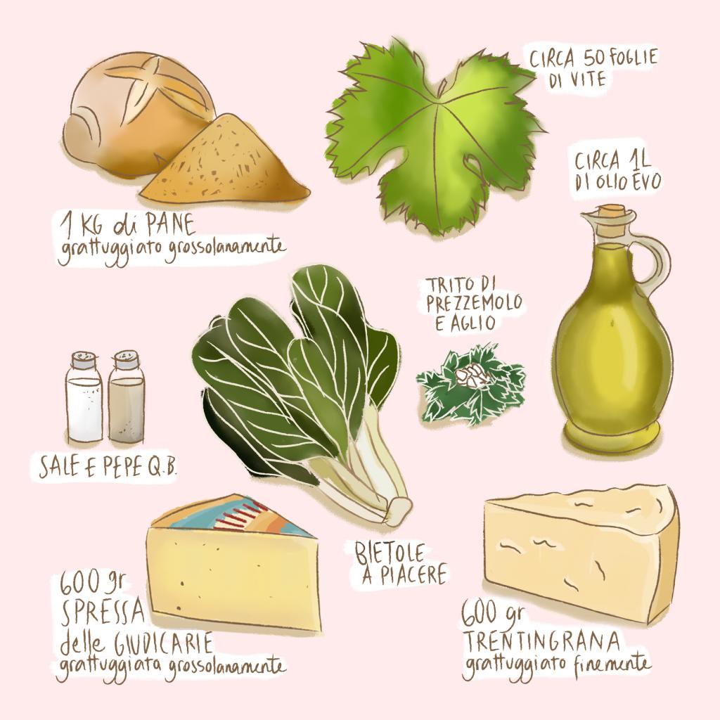 Ingredienti per la Ricetta dei Capùgn - Trentiner