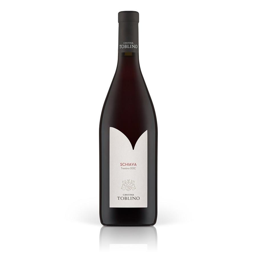 Vino rosso schiava scura cantina Toblino