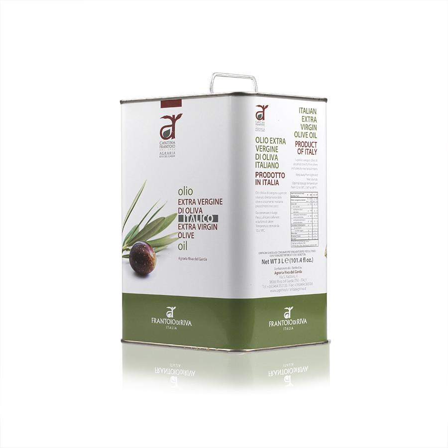 Olio oliva extravergine Italico latta 3L Frantoio Riva del Garda