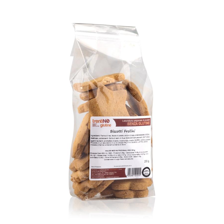 Biscotti frollini senza glutine.