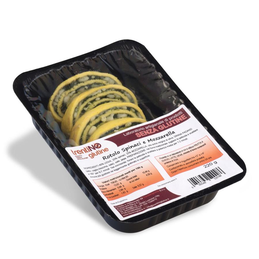 Rotolo senza glutine con spinaci e mozzarella