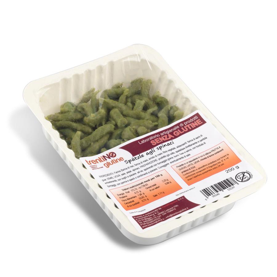 Spatzle Trentini agli Spinaci Senza Glutine 220 Gr