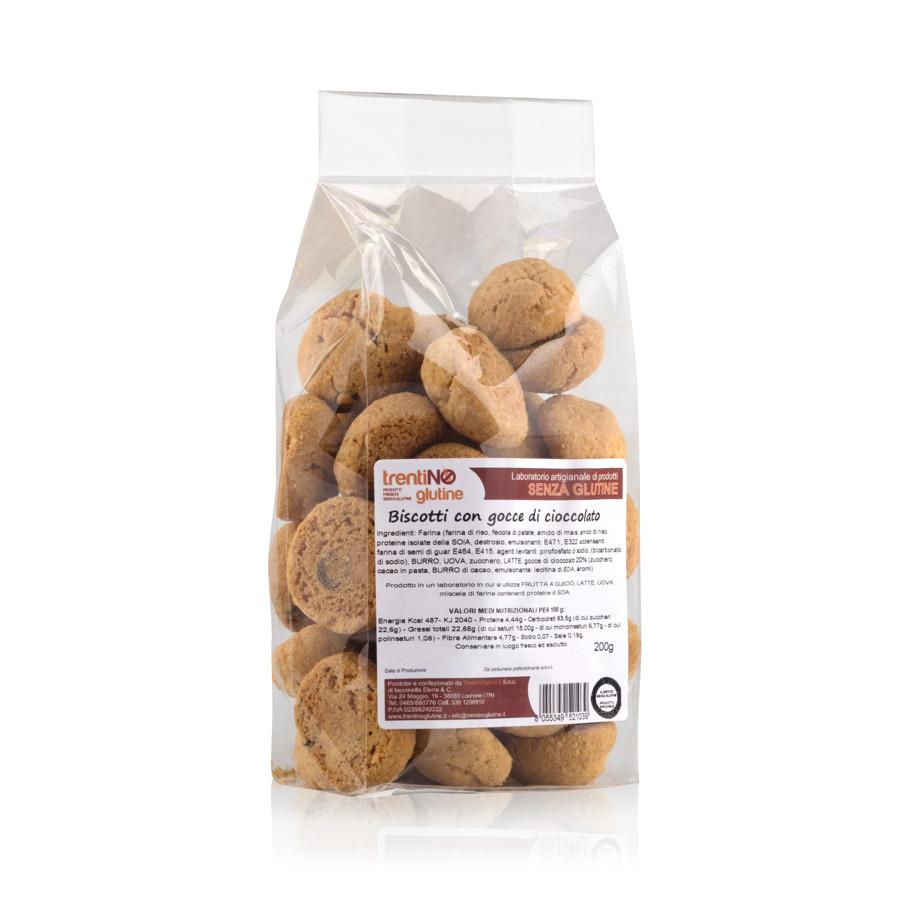 Biscotti gocce di cioccolato senza glutine