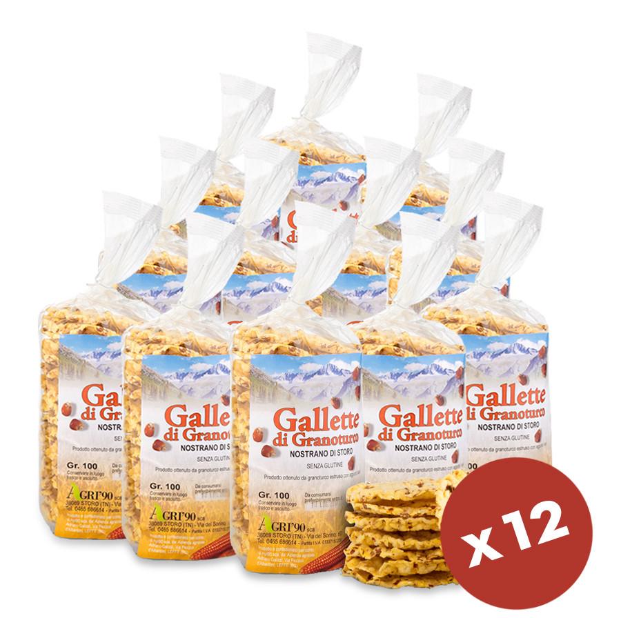 dispensa gallette di granoturco di Storo dispensa 1,2 Kg 12 pacchetti