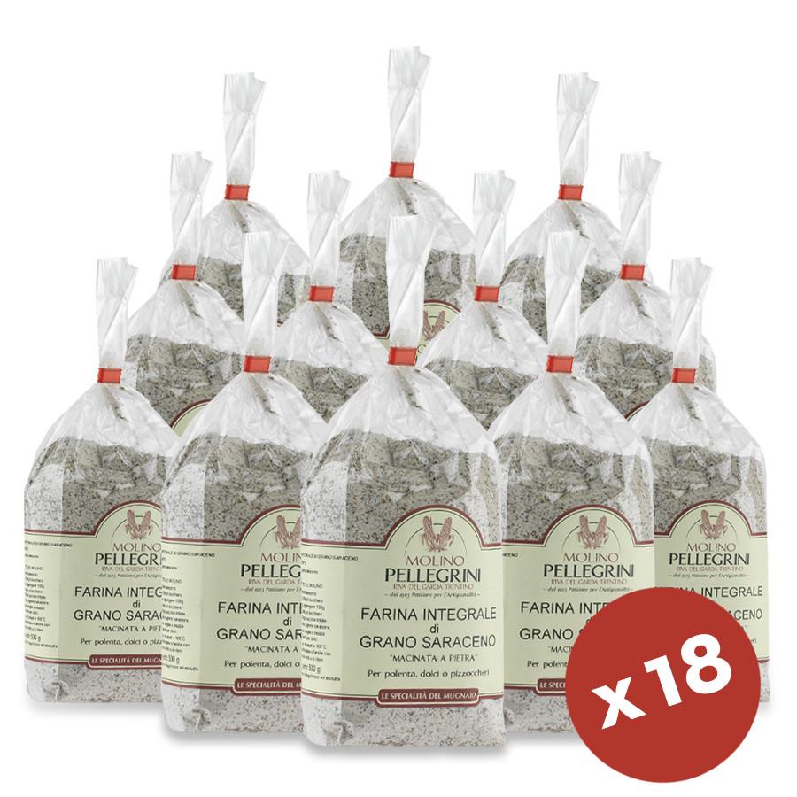 dispensa di farina 9 Kg integrale di grano saraceno trentino Molino Pellegrini