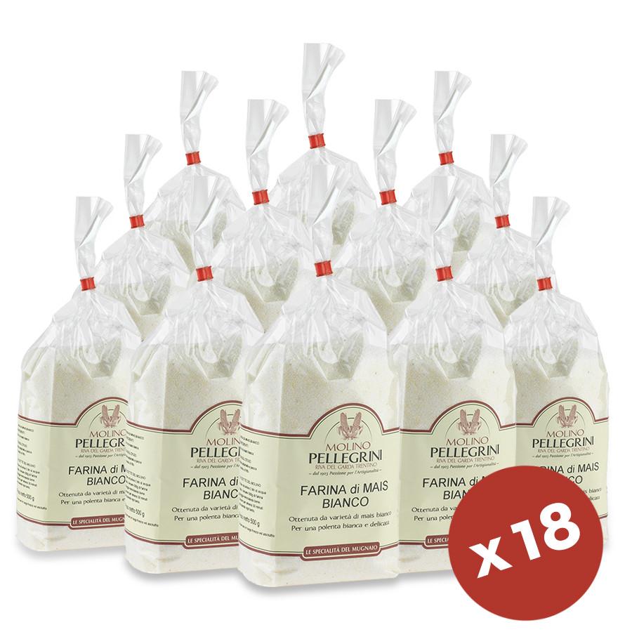 dispensa di farina di mais bianco Molino Pellegrini multipack 9 Kg