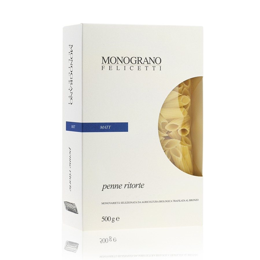 Monograno Sedani Penne Ritorte Matt 500