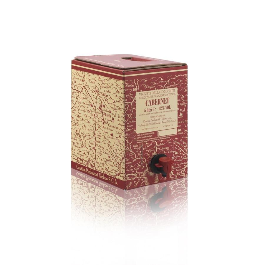 bag in box Cabernet IGT vigneti delle dolomiti 5 litri