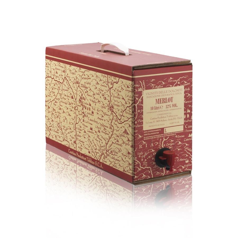 bag in box Merlot IGP vigneti delle dolomiti 10 litri