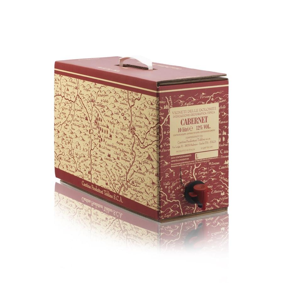 bag in box Cabernet IGT Vigneti delle Dolomiti 10 litri