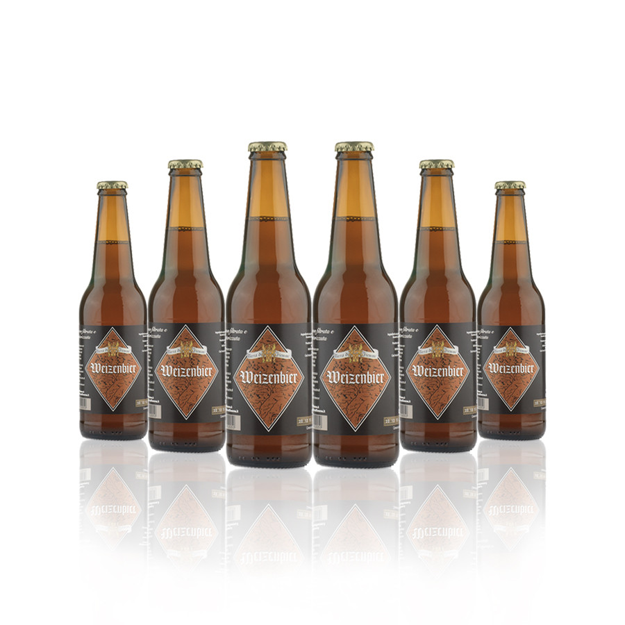 6 bottiglie Weizenbier 33 cl birra artigianale trentina Gilmozzi