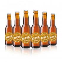 6 bottiglie birra biava blanche Melchiori 33 cl