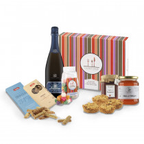 cesto regalo Serenada con prodotti tipici trentini dolci e spumante Antares