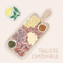box aperitivo con tagliere componibile con prodotti tipici del Trentino