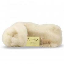 Lana trentina cardata sacchetto 250 g bianco naturale La Filiera della Lana