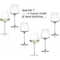 Confezione n.6 Bicchieri Calici per Spumante e Champagne