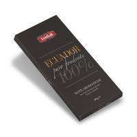 """cioccolato puro fondente """"Ecuador"""" 100% - note aromatiche - Indal 60 gr"""
