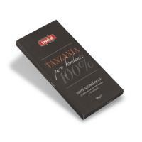 """cioccolato puro fondente """"Tanzania"""" 100% - note aromatiche - Indal 60 gr"""