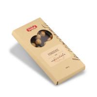 tavoletta cioccolato fondente con nocciole intere Indal 100 gr
