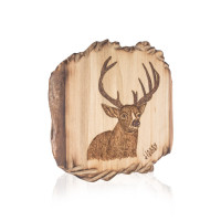 Pirografia Cervo Trentino